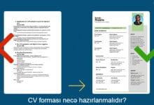 Photo of CV formasi necə hazırlanmalıdır? Hazır CV formalari