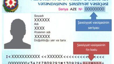 Photo of FİN kod nədir? – Şəxsiyyət vəsiqəsinin FİN kodu